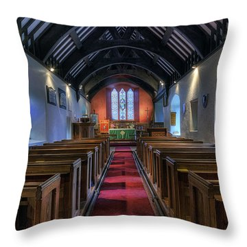 St Mary Magdalene Throw Pillow by Ian Mitchell