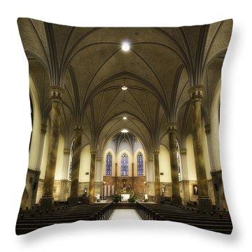 St Mary's Catholic Church Throw Pillow
