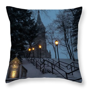 St Mary's Christmas Throw Pillow