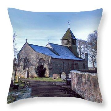 St Marys Church Raskelf Throw Pillow by Trevor Kersley