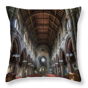St Mary's Without The Walls V2 Throw Pillow by Ian Mitchell