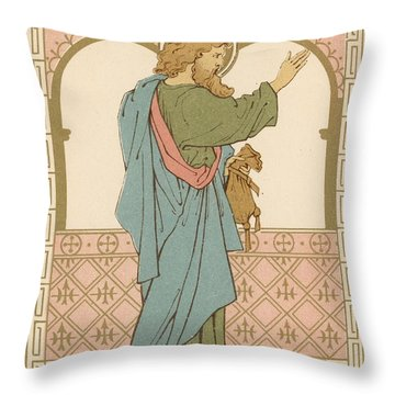 St Matthew Throw Pillow by English School