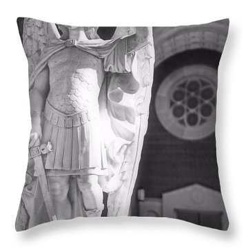 St. Michael The Archangel Throw Pillow by Brian Druggan