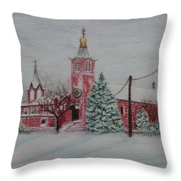 St. Nicholas Church Roebling New Jersey Throw Pillow