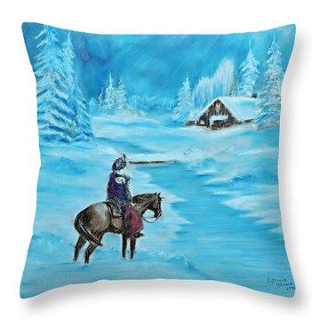 St. Nicholas Throw Pillow by Patricia Olson