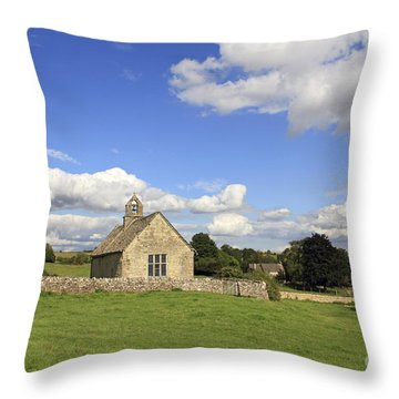 St Oswalds Chapel Oxfordshire Throw Pillow