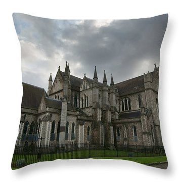 St Patricks Cathedral Hdr Throw Pillow