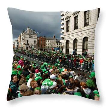 St. Patrick's Day Parade In Dublin Throw Pillow