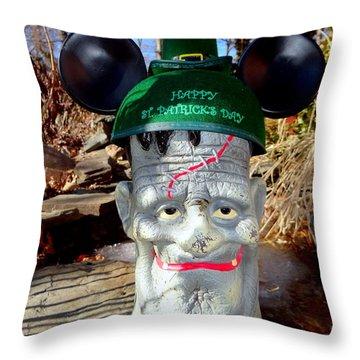 St Patricks Day Spirit Throw Pillow by Ed Weidman