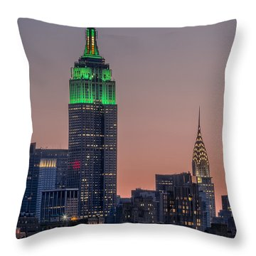 St Patrick's Day Postcard Throw Pillow