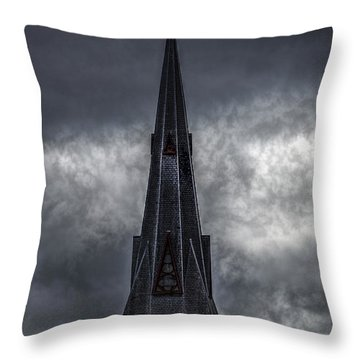 St. Patricks Spire  Throw Pillow by Bob Orsillo