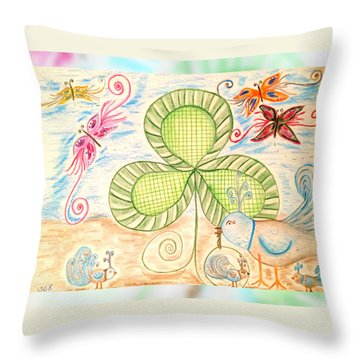 St Pattys Day Lunch Throw Pillow by Sherry Flaker