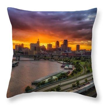 St. Paul Sunset Throw Pillow by Mark Goodman