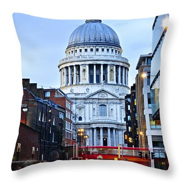 St. Paul's Cathedral At Dusk Throw Pillow by Elena Elisseeva
