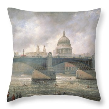 St. Paul's Cathedral From The Southwark Bank Throw Pillow by Richard Willis