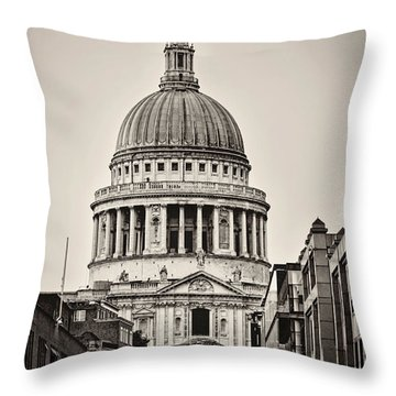 St Pauls London Throw Pillow by Heather Applegate