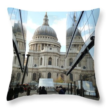 St Paul's Reflected Throw Pillow
