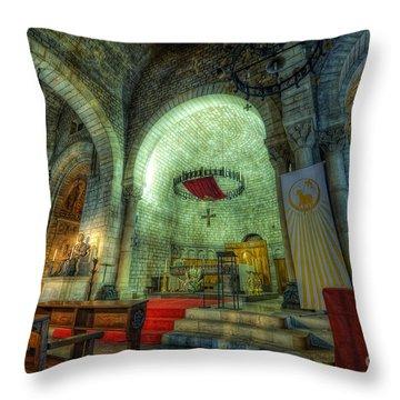 St Pere De Puelles Church - Barcelona Throw Pillow