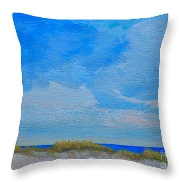 St. Pete Beach Spring Throw Pillow