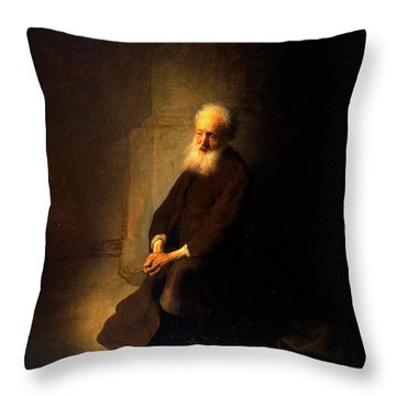 St. Peter In Prison, 1631 Throw Pillow