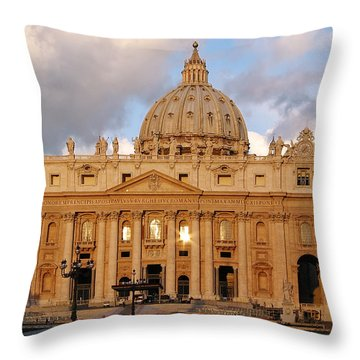 St. Peters Basilica Throw Pillow