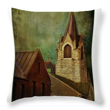 St Peter's By Night Greeting Card Throw Pillow