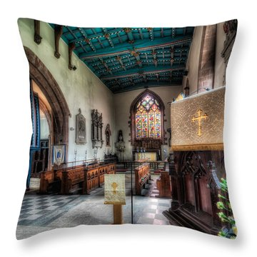 St Peter's Church Throw Pillow by Adrian Evans
