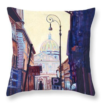 St. Peters Throw Pillow by David Randall