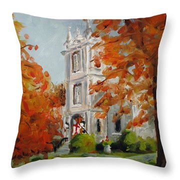 St Peters Episcopal Church Throw Pillow by Susan E Jones