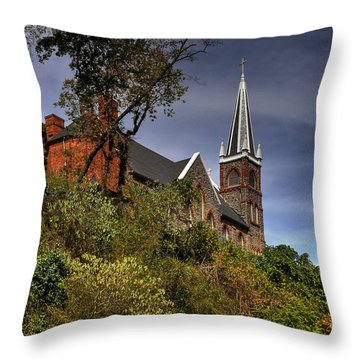 St. Peter's Of Harpers Ferry Throw Pillow by Lois Bryan
