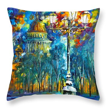 St. Petersburg New Throw Pillow by Leonid Afremov