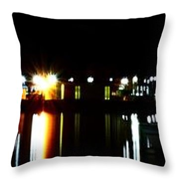 Throw Pillow featuring the photograph St. Petersburg Pier Panorama by Richard Zentner