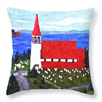 St. Philip's Church Throw Pillow by Barbara Griffin
