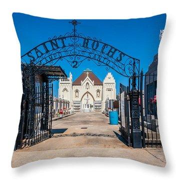 St Roch's Cemetery Throw Pillow by Steve Harrington