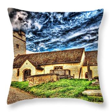 St Sannans Church Bedwellty Throw Pillow