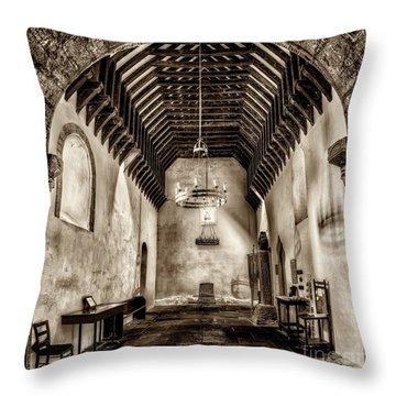 St Seirio Church Throw Pillow by Adrian Evans