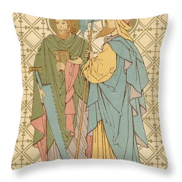 St Simon And St Jude Throw Pillow by English School