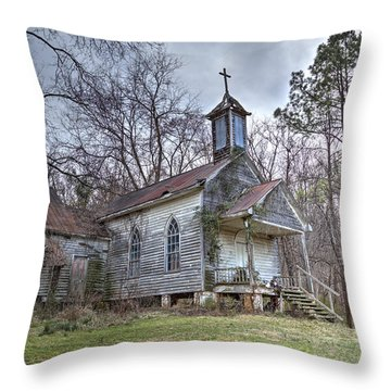 St. Simon's Church Throw Pillow