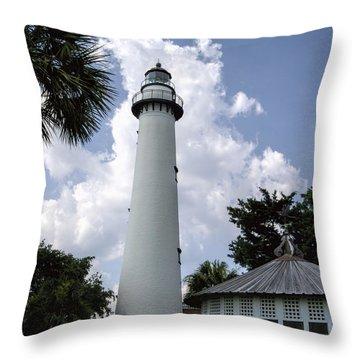 St. Simon's Island Georgia Lighthouse Throw Pillow