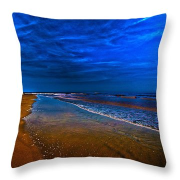 St. Simon's Island Throw Pillow by J Riley Johnson