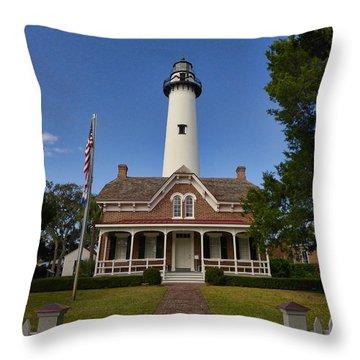 St. Simons Light Throw Pillow
