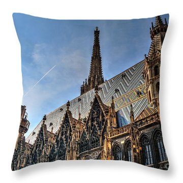 Throw Pillow featuring the photograph St. Stephen's Cathedral by Joe  Ng