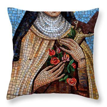 St. Theresa Mosaic Throw Pillow