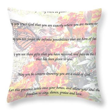 St Theresa's Prayer Throw Pillow