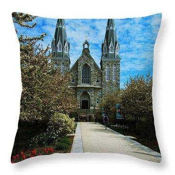 Throw Pillow featuring the photograph St Thomas Of Villanova by William Norton