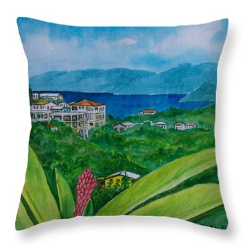 St. Thomas Virgin Islands Throw Pillow by Frank Hunter