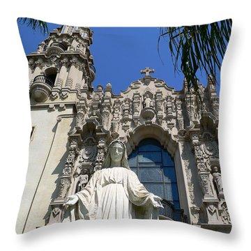 St. Vincent De Paul Church Throw Pillow by Jeff Lowe