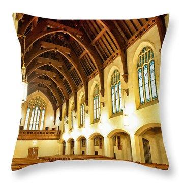 St. Vincent De Paul Church Throw Pillow