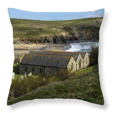 St Winwaloe Gunwalloe Throw Pillow