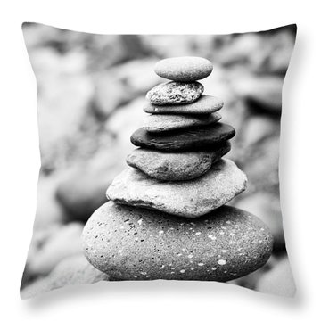 Stack Throw Pillow by Anne Gilbert